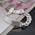 10MM Chain Bracelets for men wholesale 925 sterling silver  bracelets bangle fashion silver jewelry silver 925 bracelets
