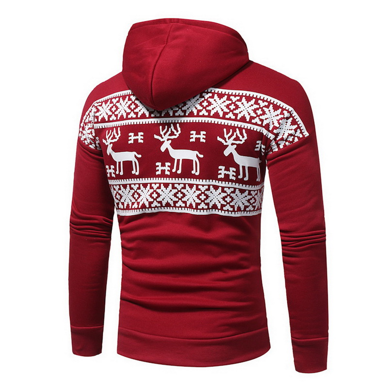 Laamei 2018 Christmas Autumn Winter Fashion Men's Womens Sweatshirt Warm Hooded Casual Print Jumper Sweatershirt Pullover Hoodie 1