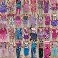 Самые Модные Куклы Девушки Мульти-стиль Одежды Костюмы 1/6 30 см Кукла Платье 30 Пунктов = 10 Платья Одежда + 10 Пар Обуви + 10 Вешалки