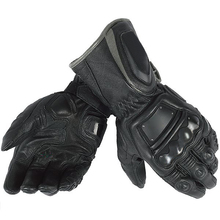New Arrival! black Motorcycle Leather Gloves Dain 4 Stroke Long Gloves  Motorbike Off-Road Racing Bikers motocicleta team gloves willbros dain moto gp long first grade cowhide gloves motorcycle pro full metal d1 gloves for motorbike off road racing