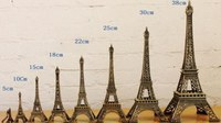 Hot Sale 8pcs 5 10 15 18 22 25 30 38cm Bronze Tone Paris Eiffel Tower