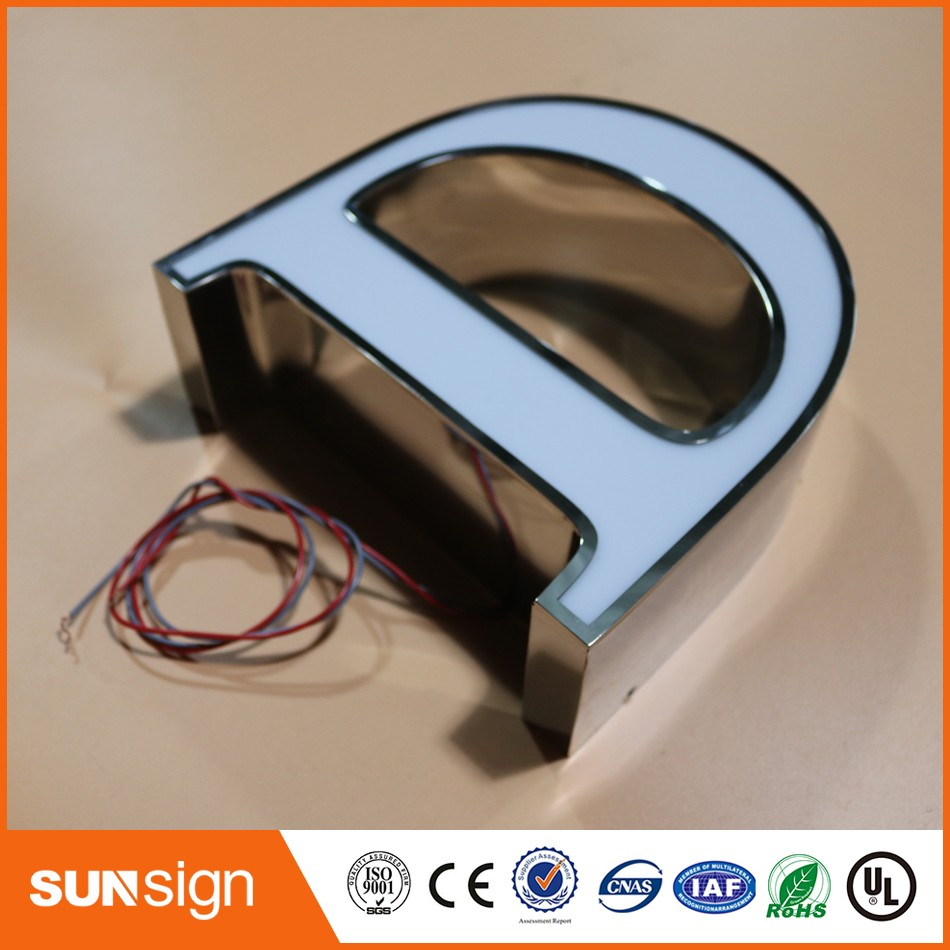 Design Chain Stores Signage 3d Led Channel Letter