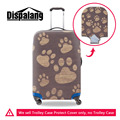 New 3D Animal Footprints Trolley Accessories Elastic Waterproof Luggage Set Cover 18-30 inch Suitcase Cat Protective Dust Cover