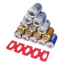 Creative Silicone Tin Can Storage Rack Refrigerator Coke Beer Stacking Pad Tool