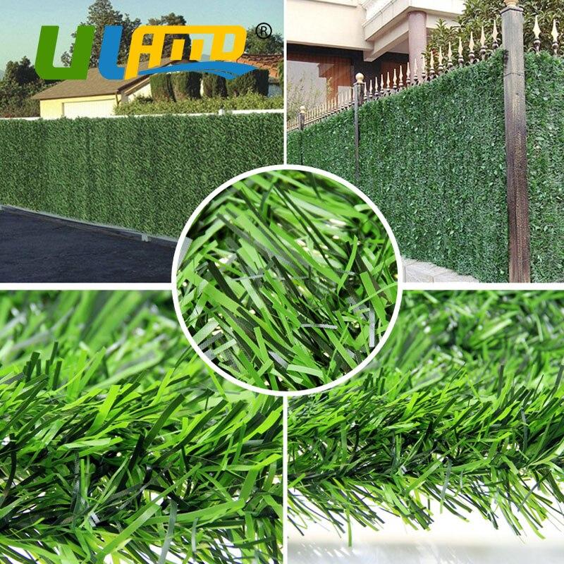 искусственная трава забор