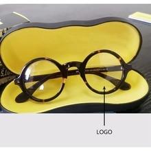 Optical Glasses Frames Men Women Johnny Depp Eyeglasses Brand Design Computer Round Goggles male Acetate Vintage With box Z314