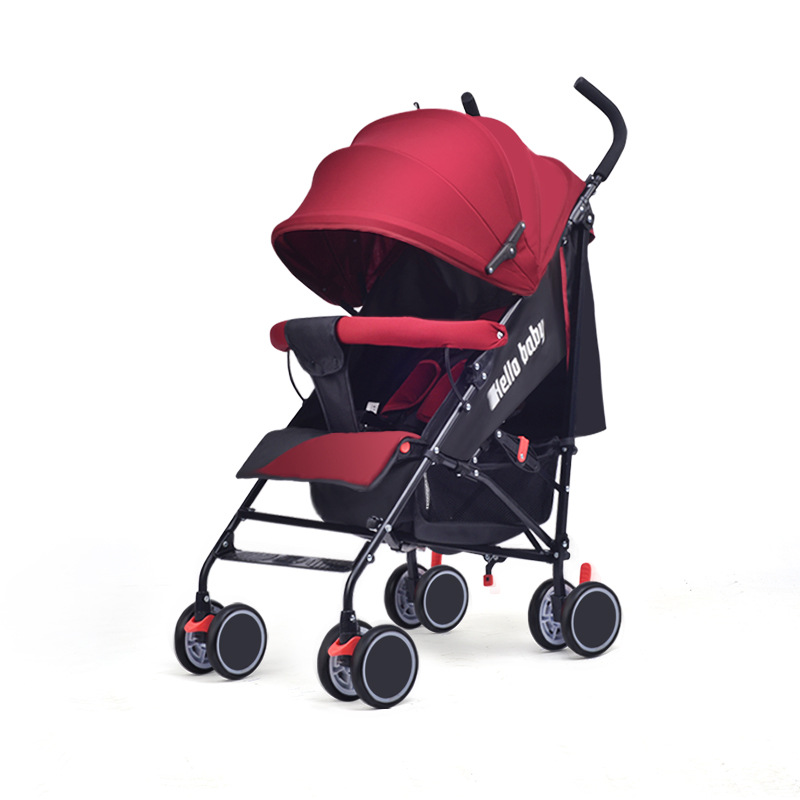 Summer Light Baby Stroller Can Sit Can Lie Down Comfortable Portable Baby Stroller Folding Baby Carriage Travel Stroller bcdz high landscape twin baby stroller can sit lie down light summer folding carriage carrier
