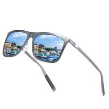 Большие квадратные ультралегкие солнцезащитные очки al mg поляризационные