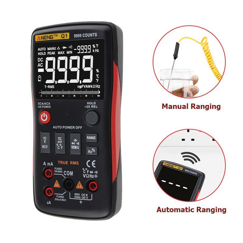 ANENG Digitale Voltmetro Amperometro Multimetro Digitale 9999 Conta Con Grafico a Barre Analogico AC/DC Tensione Amperometro