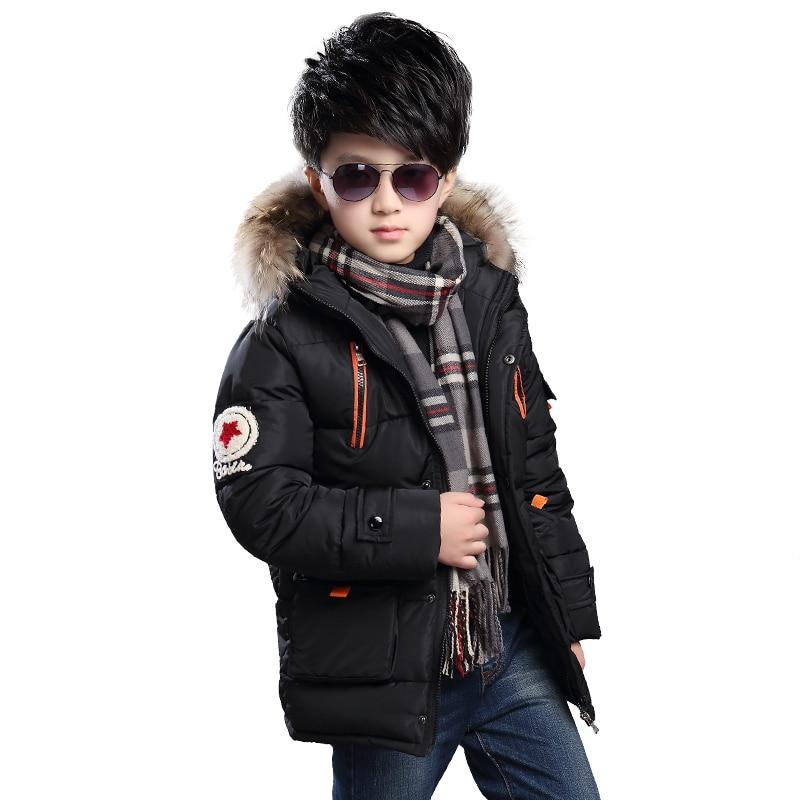 2016 Kids Winter Jacket Long Winter Coat Russian Winter