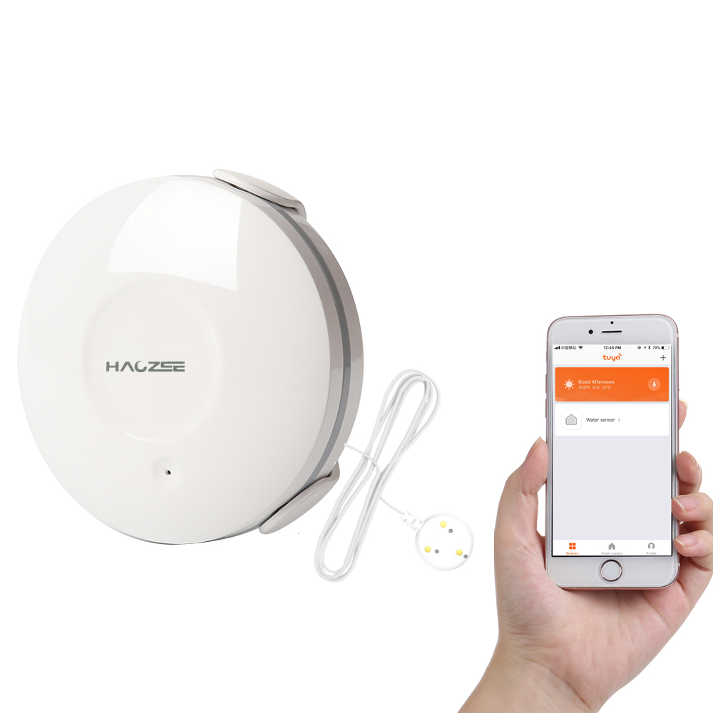 Smart WiFi Water Sensor Flood and Leak Detector Alarm and App Notification Alerts No Expensive Hub Required Water Leakage Sensor