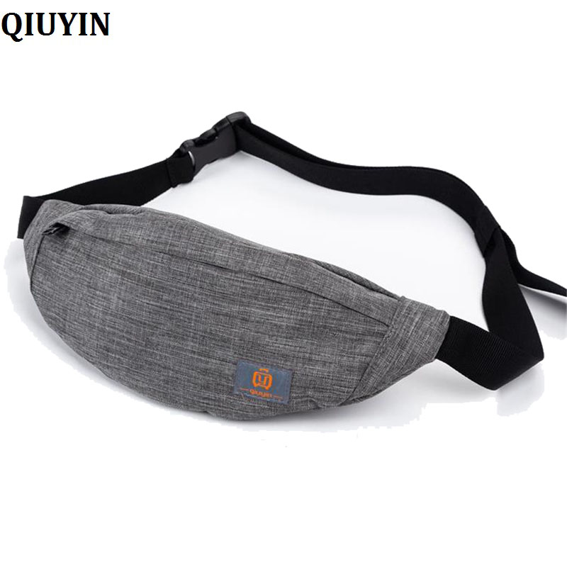 QIUYIN Crossbody Bags Feminina Unisex Sports Canvas Waist Bag Fanny Casual Chest Packs For Women Men Portable Travel Shoulder