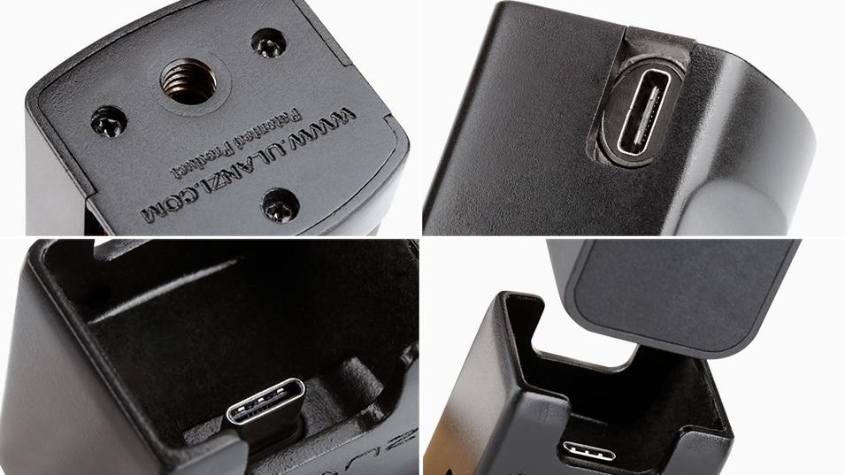 Ulanzi OP2 Gimbal Accessories for Dji Osmo Pocket Vertical Gimbal Base Holder Fixed Mount 1/4 Screw USB Charging Port Type-C 7
