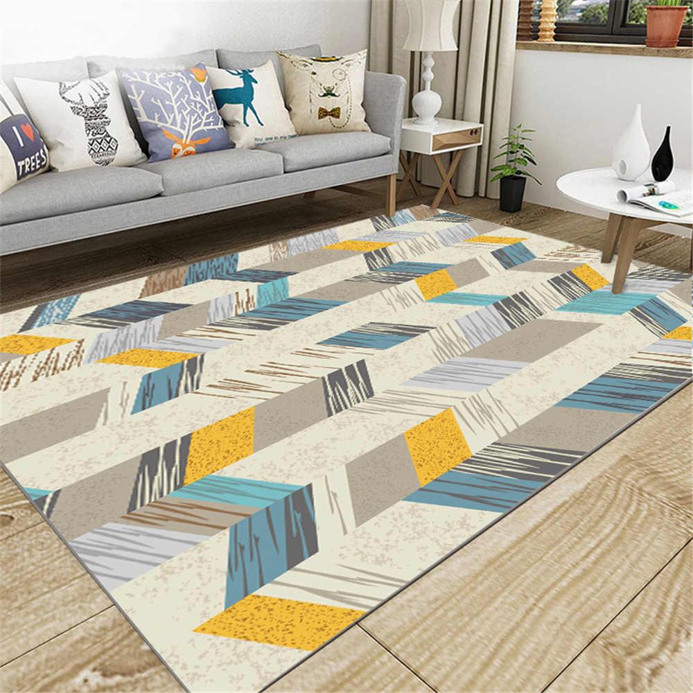 SHIERJU 2019 nouveau tapis de sol Europe du nord 80x160 cm cristal velours épaississement paillasson pour la maison antidérapant chambre tapis imprimé