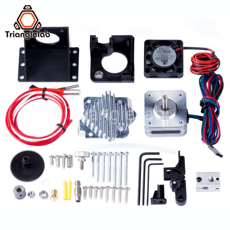 Trianglelab 3d printer Titan Aero V6 hotend extruder full kit titan extruder full kit reprap mk8 i3 Compatible TEVO ANET trianglelab 3d printer titan extruder new metal gear hobb hardened steel free shipping reprap mk8 i3
