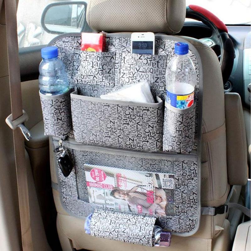 все цены на LUNDA Car Storage Bags Back Seat car seat covers Seat Back Protector For Children Kick Mats - holder ipid travel organizer