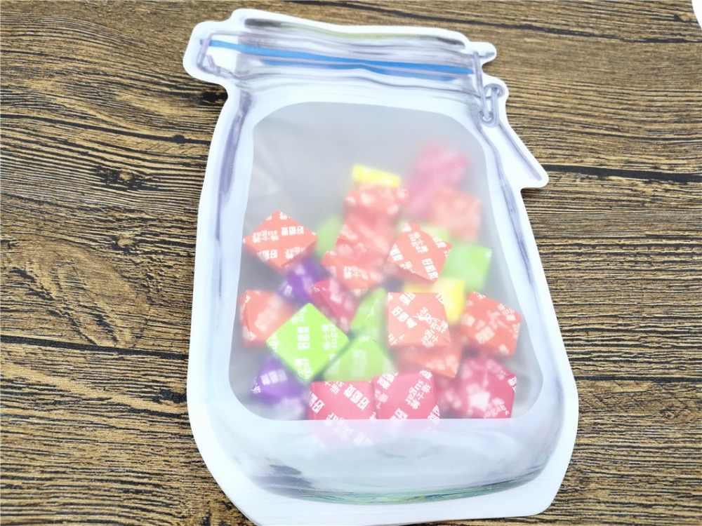 Бутылки Сумки гайки печенье конфеты закуски герметичный пластиковый пакет украшения дома хранения поставки самозапечатанные сумки
