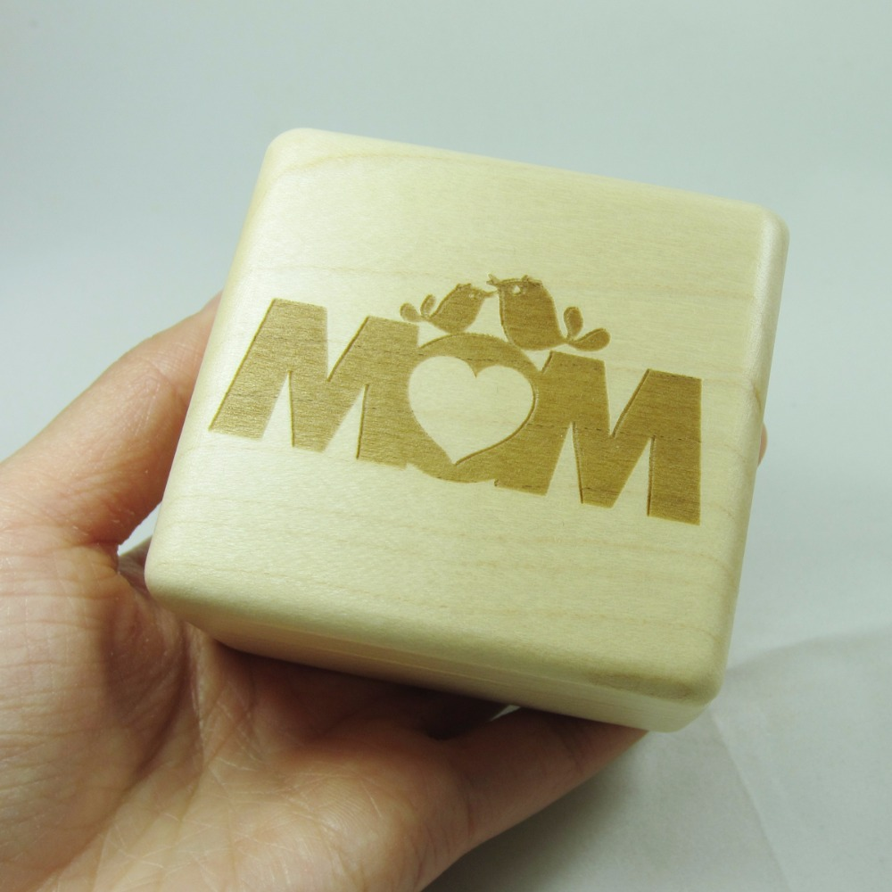 Mathers day handmade wind up photo gift, photo gift for mom, custom engraved music box, personalized gift free shipping