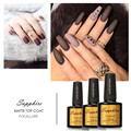 7.3ml Matt Matte Top Coat Nail Gel Polish Nail Art Tips Dull Finish Top Coat Gel Long Lasting Gel Lacquer By FOCALLURE