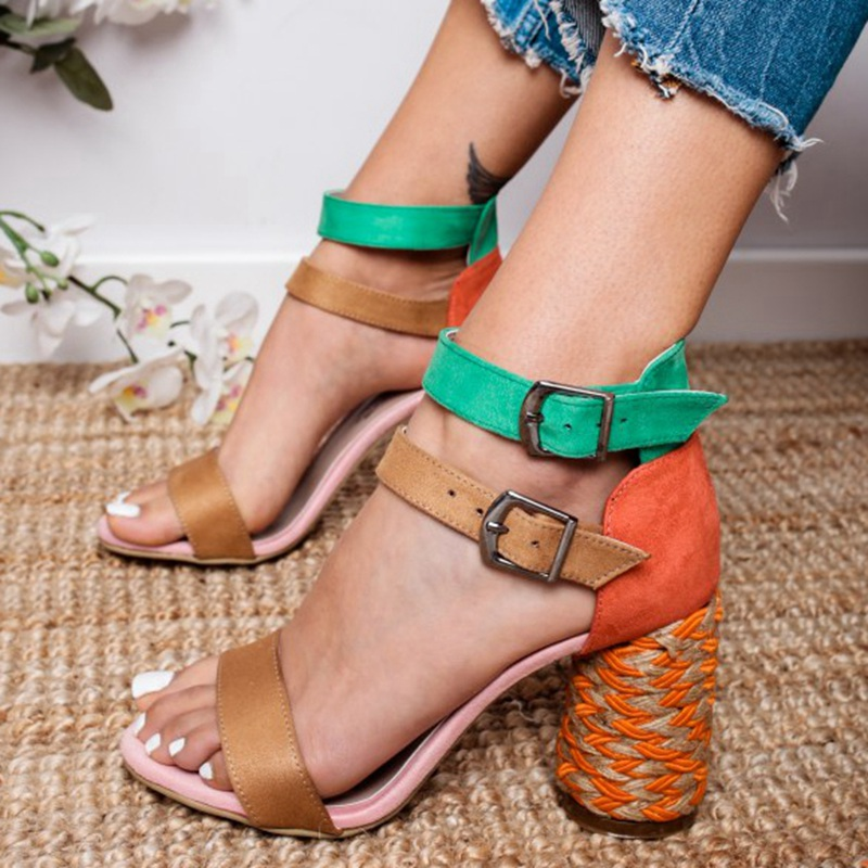 HEFLASHOR Sandals Womens Platform High-Heel Ladies Wedges Strape Woman Ankle Feminino