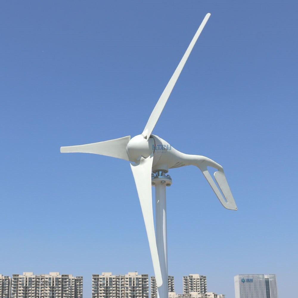 Pozioma turbina wiatrowa 400 W Generator wiatrowy 12 V 24 V 48 V z MPPT kontroler wiatru pasuje do układu słonecznego