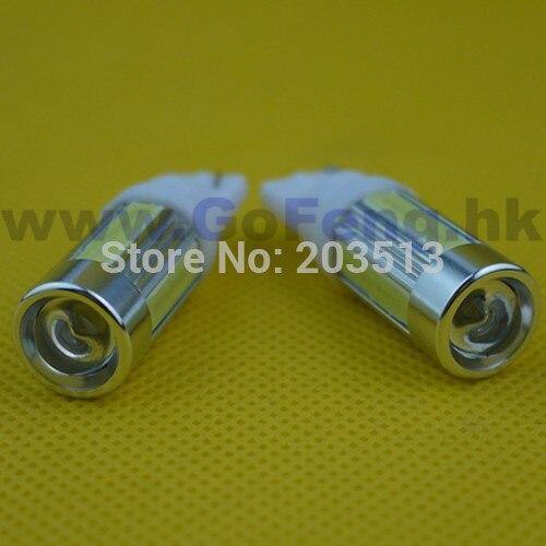 50pcs/lot factory wholesale T10 5 led 6w cob High Power car light 194 168 192 W5W led bulb Free shipping