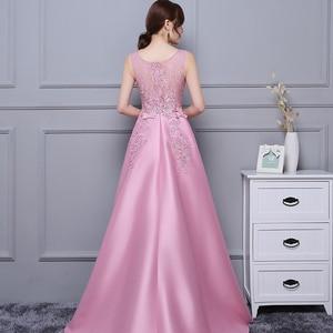 Image 2 - DongCMY Vestido de graduación asimétrico, Vestido de satén de encaje, Vestido Formal elegante para fiesta
