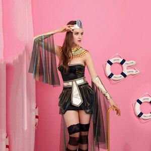Image 3 - Disfraces de California para mujer, disfraz de diosa egipcia, disfraz de adulto de Cleopatra, Egipto, disfraz de Cosplay para Halloween, vestido de reina de Egipto