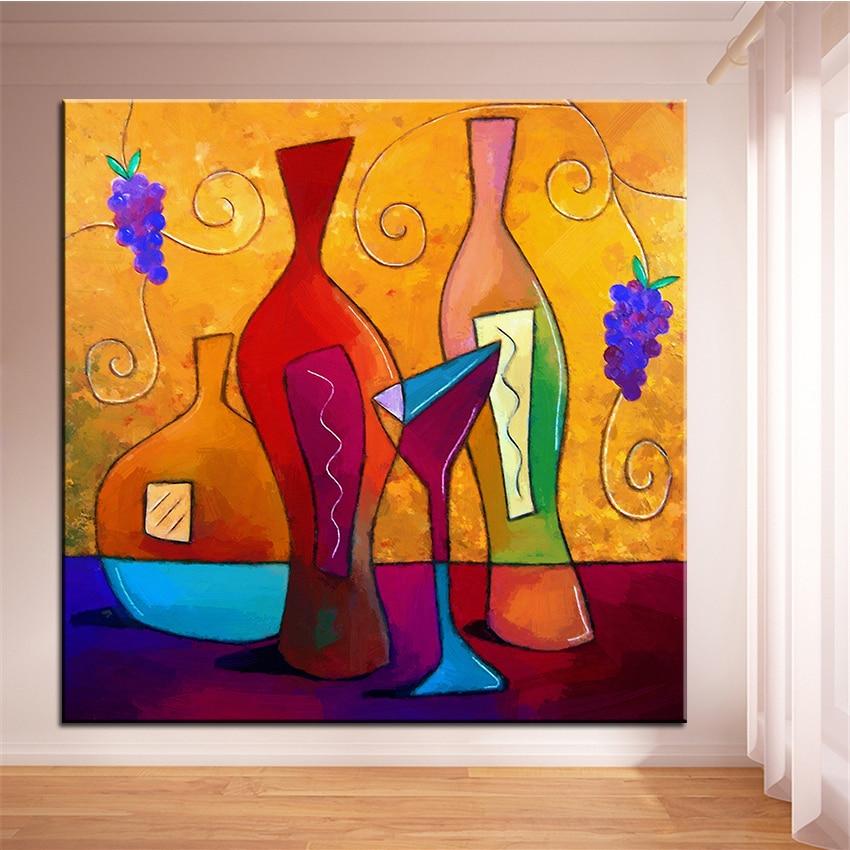 2 74 50 De Réduction Grande Taille Impression Peinture à L Huile Sur La Vigne Peinture Murale Pop Art Mur Art Photo Pour Salon Peinture Pas De