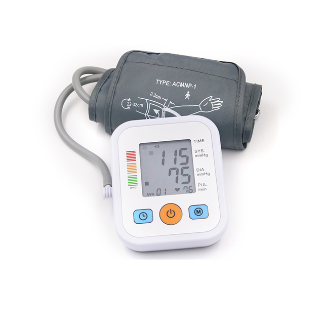 Pro Blood Pressure Monitor tansiyon aleti Upper Arm Style Electronic Blood Pressure LCD Dispaly Systolic Pulse Health Care