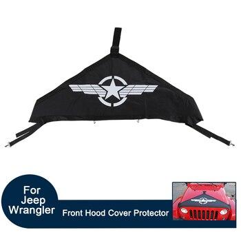 Lona preta Exterior Do Carro Sombrinha Coer Capa Da Tampa Frontal Protetor de Múltiplas Escolhas para Jeep Wrangler 2007-2017 Acessórios