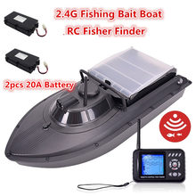 JABO 2BD 20A 10A Water depth detecting fish-tempting light Fishing Bait Boat Fish finder RC Boat With 2pcs 3.7v 20A Boat Battery(China)