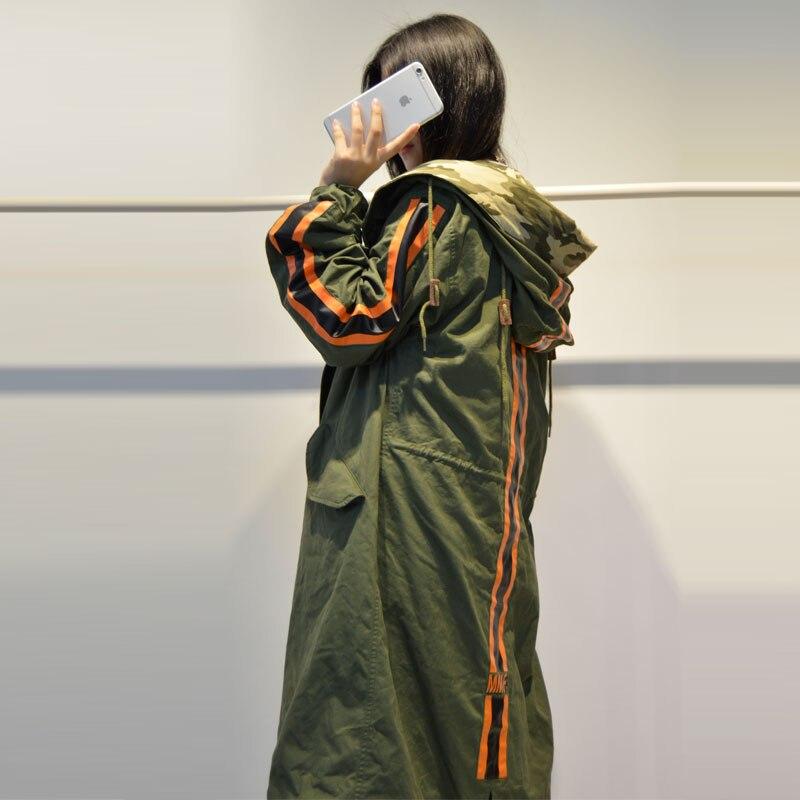2016 Women Spring & Autumn MMF Print Sleeve camouflage Hat Long   Basic     Jacket