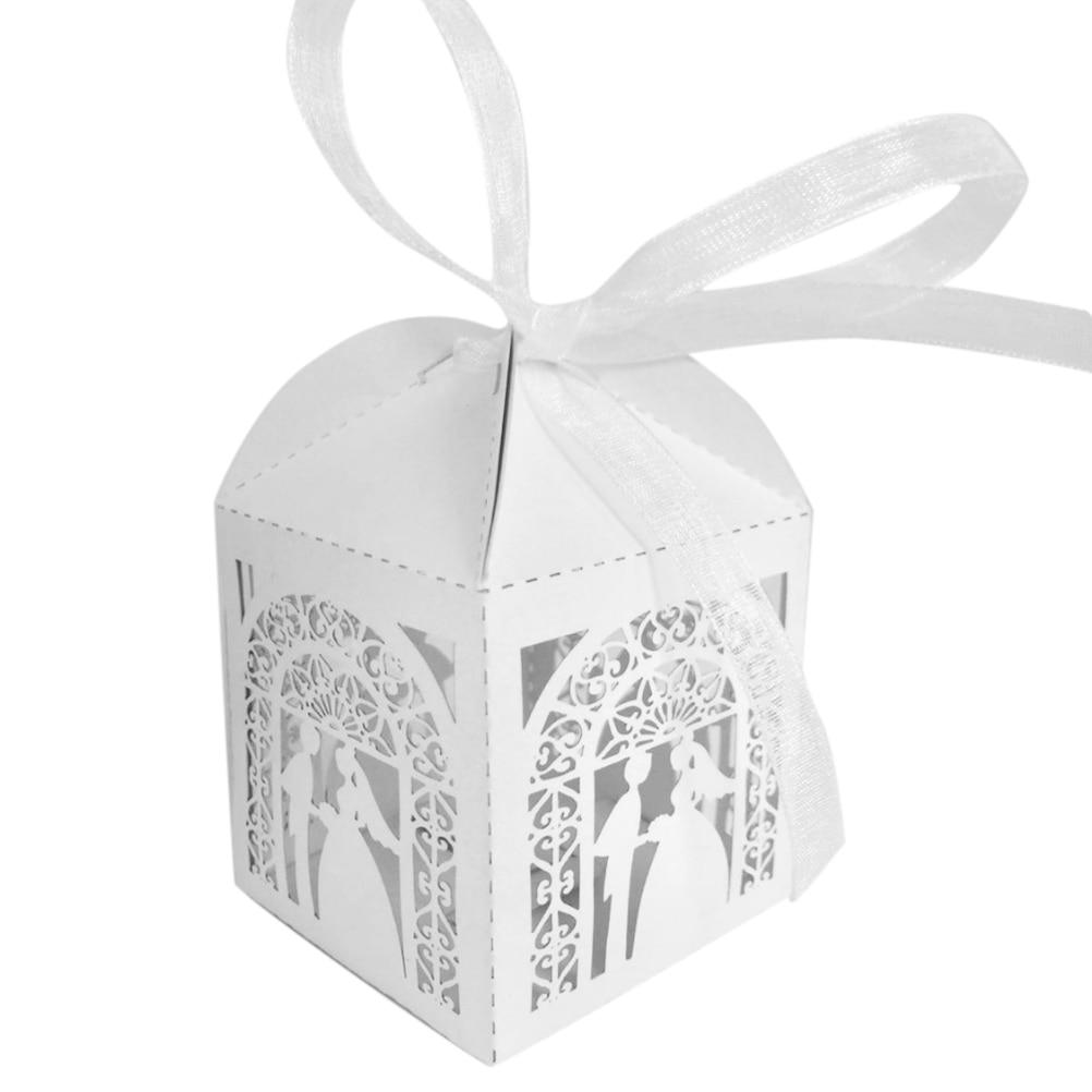 10pcs/lot Wedding Favors Gifts Candy Box White Chocolate