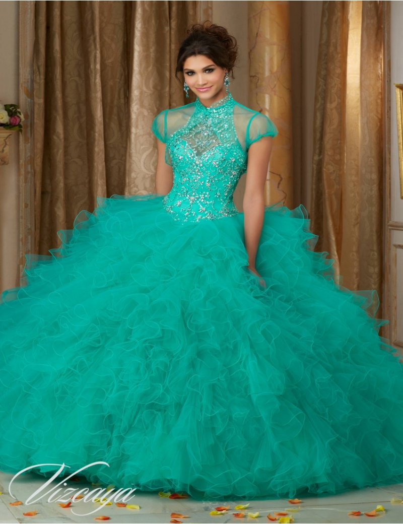 Purple and blue and green quinceanera dresses images