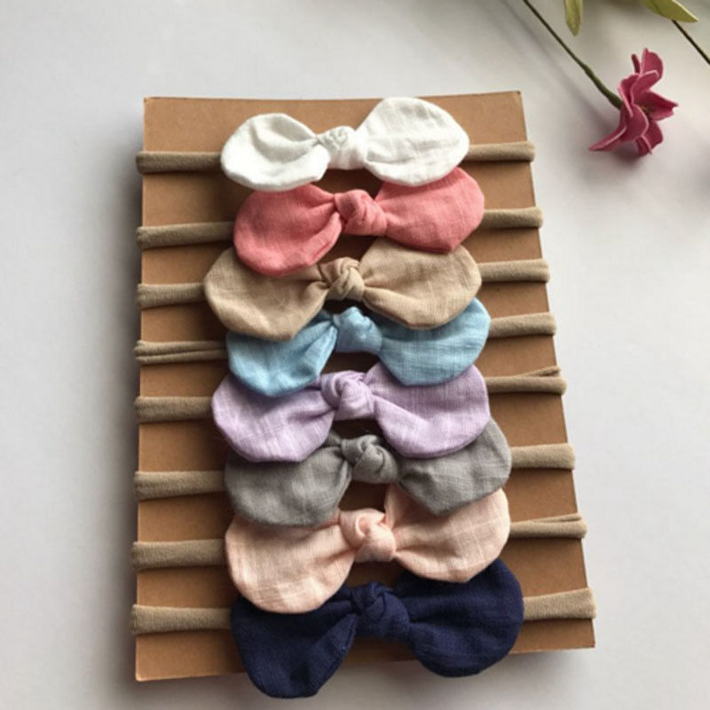 Emmababy Cute 4pcs/set Kids Baby Toddler Infant Turban Knot Rabbit Headband Bow Hairband Head Band 13 colors lovely girls print floral rabbit ears hairband turban knot headband hair band accessories