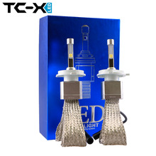 TC-X Car Styling LED Headlight H4 Hi/Lo Auto LED Headlight Bulb H4 4800LM White Color2 Pcs/Lot 6000K LED Headlight Lamp