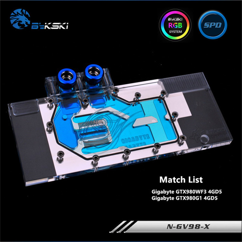 Bykski Full Coverage GPU Water Block For Gigabyte GTX980WF3 GTX980G1 4GD5 Graphics Card N-GV98-XBykski Full Coverage GPU Water Block For Gigabyte GTX980WF3 GTX980G1 4GD5 Graphics Card N-GV98-X