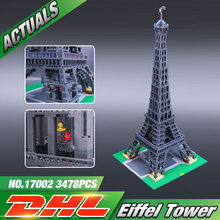 New LEPIN 17002 3478pcs The Eiffel Tower Model Building Kits Minifigures Brick Toys Compatible 10181 Christmas Gift
