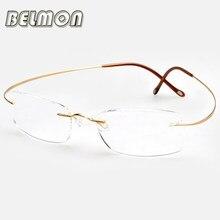 Armação de titânio Ultra-Leve Óculos de Leitura Magnética Homens Mulheres  Óculos Para Presbiopia Dioptria + 1.0 + 1.5 + 2.0 + . c06412f363