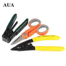 Free Shipping fiber optic tool kits Pixian fiber stripping double hole fiber miller pliers stripper Tool+Kevlar Scissors(3packs)