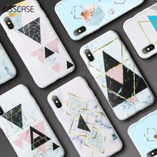 KISSCASE Silicone Case For Samsung Galaxy S8 S9 Plus Triangular Geometry Marble Case For Samsung Galaxy A7 A6 A5 J3 J5 2018 2017(China)