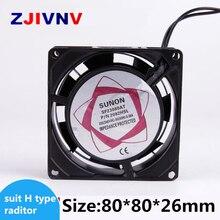 Бесплатная доставка AC 220 V шкаф AC Вентилятор охлаждения 80*80*26 мм кулер твердотельные реле тепловыделение вентилятор