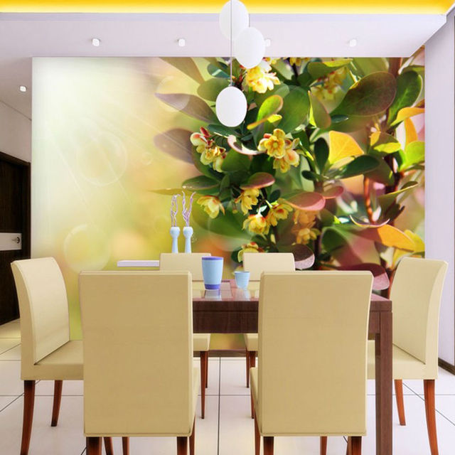 Quality Little Yellow Flowers under the Sunshine Mural Wallpaper for ...