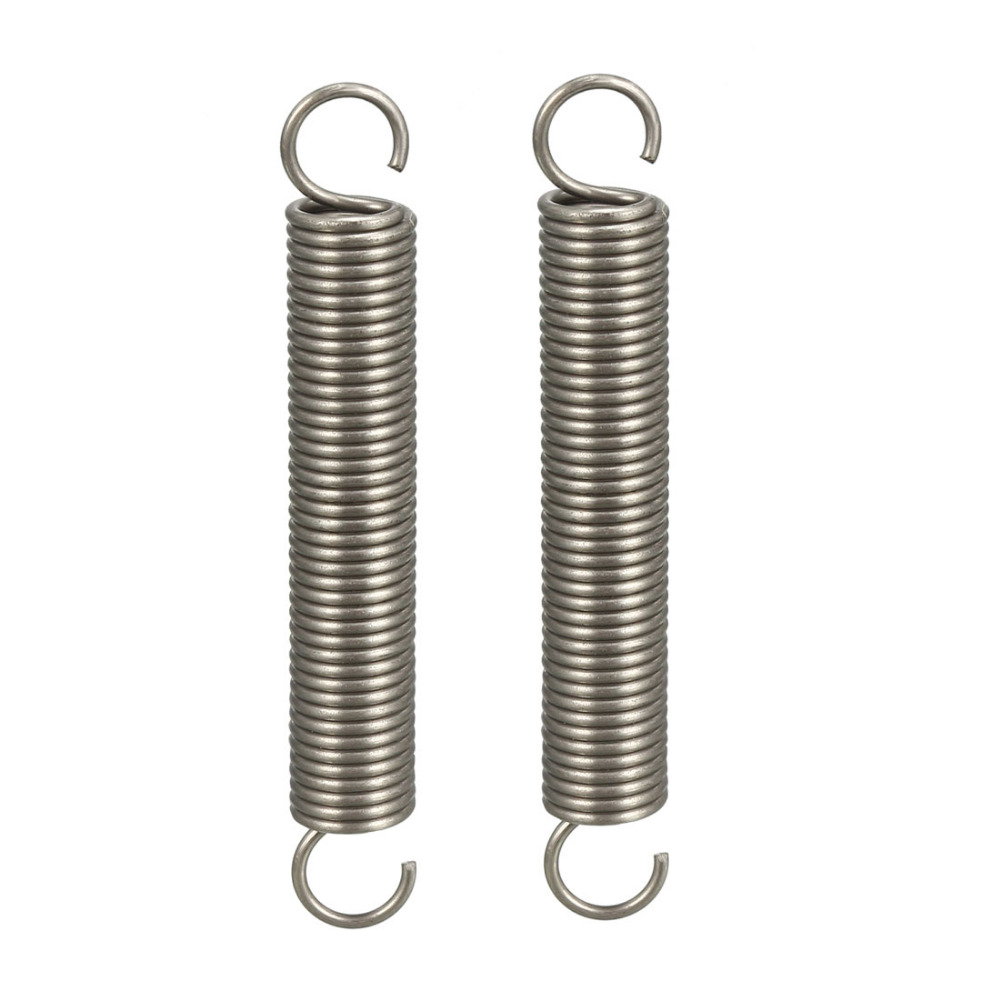 OD 0.12 inches Free Length 11.81 inches Stainless Steel Small Dual Hook Tension Spring uxcell Extended Compressed Spring Wire Diameter 0.02 inches