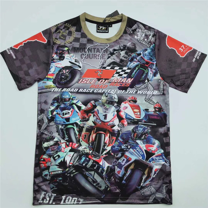 2018 New MOTOGP Isle Of Man TT T-Shirts Motorcycle Road Races Short Sleeve Tees Shirt Men's Summer Mountain Course T Shirt kuyomens 4 pcs man t shirts tees shirt homme new arrival summer short sleeve men s t shirt male tshirts camiseta t shirt men