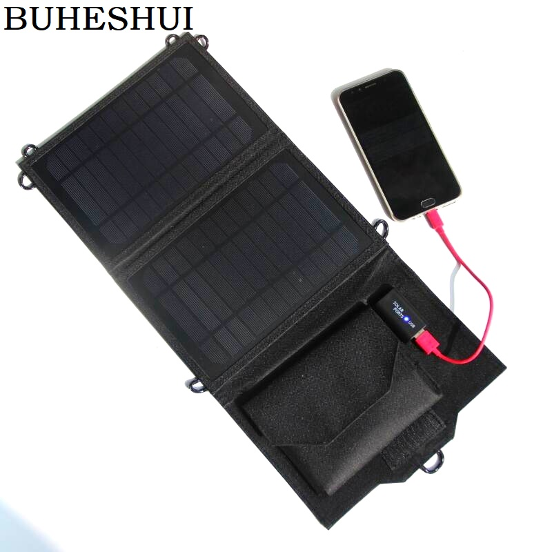 High Quality! Portable 7W 5V Solar Charger Mono Solar Panel Charger For Iphone /Mobile Power Bank Battery Charger Free Shipping
