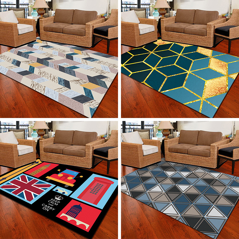Crystal Velvet Parlor Carpet Nordic Style Home Large Size Carpets For Living Room Bedroom Super Soft Rug Bedside Mat Tapis Salon