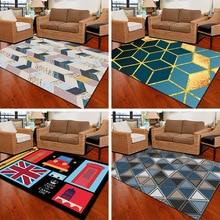 Crystal velvet Parlor Carpet Nordic Style Home Large Size Carpets For Living Room Bedroom Super Soft Rug Bedside Mat tapis salon