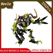 Bevle Store KSZ 614 191Pcs BIONICLE Series Umarak the Destroyer Model Building Blocks Bricks Set Toys with Children Toys